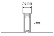 Dilatační lišta Cezar plastová 12mm 2,5m světle šedá