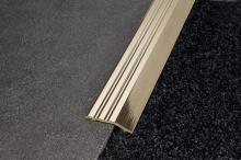 Náběhová lišta hliník samolepící 44x12 mm bronz 2,7 m