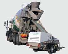 Pronájem dieselového čerpadla na lité cemflow směsi, včetně obsluhy, přistavení, čerpání