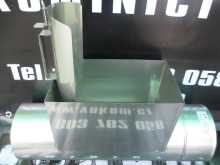 Komínový díl s dvojitým kontrolním otvorem 150x250 pr. 140mm
