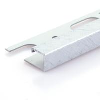Čtvercový ukončovací profil Profilpas eloxovaný hliník platina kartáčovaný 12,5mm 2,7m