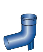 Koleno patní pro kondenzační kotle