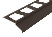 Balkonová lišta s okapničkou Cezar lakovaný hliník hnědý RAL 8019 2m