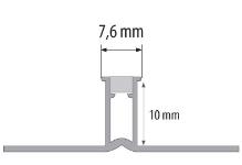 Dilatační lišta Cezar plastová 10mm 2,5m světle šedá