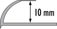 Obloučková ukončovací lišta otevřená Cezar mosaz 10mm 2,5m