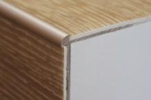 Schodová hrana pro vinylové podlahy do 3mm Profil Team 38x25mm 1,2m champagne