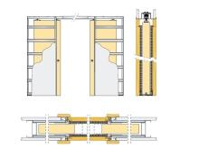 Pouzdro pro posuvné dveře do SDK 125mm Eclisse dvoukřídlé