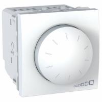 Otočný stmívač UNICA, 2 moduly, 40-400 W/VA (Polar-Bílá)