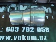 Komínový přechodový díl menší - větší tažený pr. 120mm