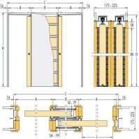Pouzdro Eclisse do SDK zákryt 175mm, směr zasouvání varianta B - první dveře pravé