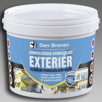 Jednosložková flexibilní hydroizolace Exteriér Den Braven 2,5kg
