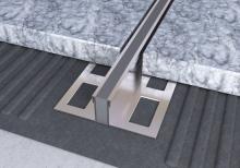 Dilatační lišta povrchová teplem vulkanizovaná Ligma nerez 10mm 2,5m