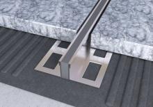 Dilatační lišta povrchová teplem vulkanizovaná Ligma nerez 12,5mm 2,5 m