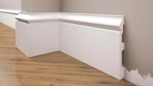 Cezar Elegance podlahová soklová lišta 117x14,5 mm 2,44 m bílá