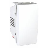 Ovládač UNICA tlačítkový, 1 modul, řazení 1/0 (Polar-Bílá)