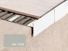 Balkonová T lišta bez okapničky Profilpas Protec CPEV hliník šedý popel RAL 7038 45x12,5x2,7m