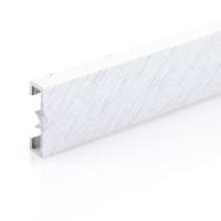 Dekorativní listela eloxovaný hliník platina 25x7mm 2,7m