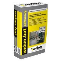 Cementová podlahová hmota vyztužená vláknem Weber bat balkonový 25kg