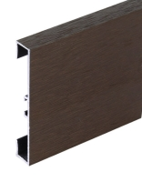 Podlahová soklová lišta Profilpas hliník kartáčovaný hnědý 60 mm 2 m
