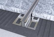 Dilatační lišta povrchová teplem vulkanizovaná Ligma hliník 16,5mm 2,5m