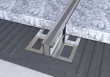 Dilatační lišta povrchová teplem vulkanizovaná Ligma hliník 25mm 2,5m