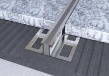 Dilatační lišta povrchová teplem vulkanizovaná Ligma hliník 30mm 2,5m