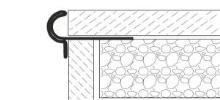 Dekorativní schodová lišta nerez přírodní 13,5mm 2,5m