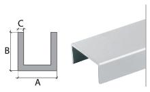 U profil Cezar eloxovaný hliník 16x13x1,5mm 2m