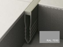 Šípová dilatační lišta do betonu Profilpas Projoint NF plastová šedý kámen 35mm 2,7m