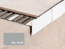 Balkonová T lišta bez okapničky Profilpas Protec CPEV hliník šedý kovový RAL 9006 45x15x2,7m