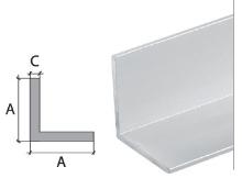 Vingl Cezar eloxovaný hliník stříbrný 20x20x2mm 2m
