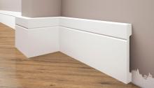 Cezar Elegance podlahová soklová lišta 108x15,9 mm 2,44 m bílá