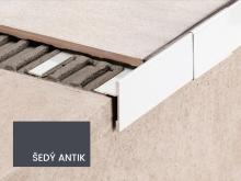Balkonová T lišta bez okapničky Profilpas Protec CPEV hliník šedý antik  45x12,5x2,7m