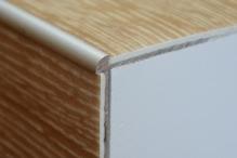 Schodová hrana pro vinylové podlahy do 3mm Profil Team 38x25mm 1,2m stříbrná