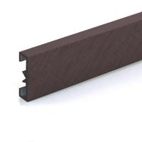 Dekorativní listela eloxovaný hliník tmavě hnědý 25x7mm 2,7m