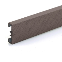 Dekorativní listela eloxovaný hliník hnědý 25x7mm 2,7m