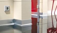 Podlahová soklová lišta AL profil 59 mm stříbrná 2,5m