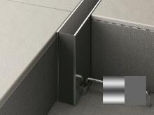 Hloubková dilatace s kotvou do betonu Profilpas Projoint STA šedá guma přírodní hliník 10x40mm 2,5m