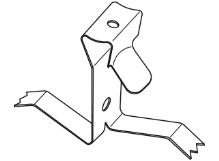 Pružinový klip k dilatační liště Profilpas Procover pro dodatečnou montáž, ocelový