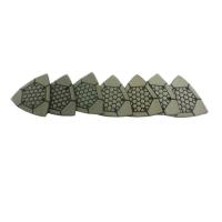 Brusný a leštící diamantový trojúhelník se suchým zipem