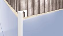 Obloučková ukončovací lišta otevřená Cezar pvc bílá 10mm 2,5m